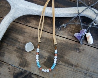 Moonstone and Amazonite Necklace