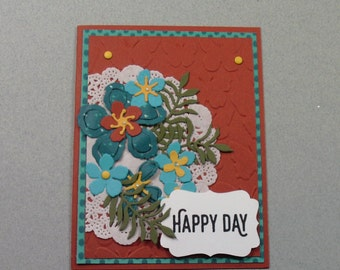 """Handmade Stampin"""" Up """"Happy Day""""  card"""