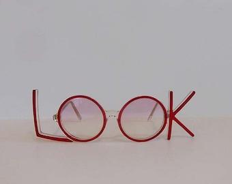 1970s eyeglasses / LOOK of Love Vintage Oversized 70's Anglo American Sir Winston England Frames Eyeglasses