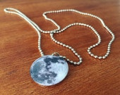 Moon Necklace 1 Inch Button