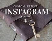 Instagram Photo Album for Valentines Day/ Skeleton Key / Mocha Brown