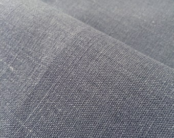 Dark Grey 100% hemp fabric for interiors or upholstery, perfect for printing projects