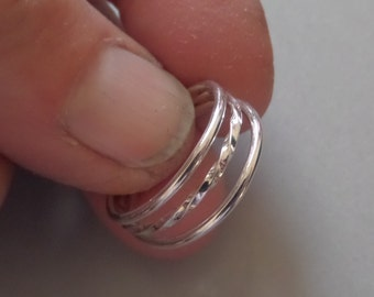3-Ring Sterling Stacker-Last one