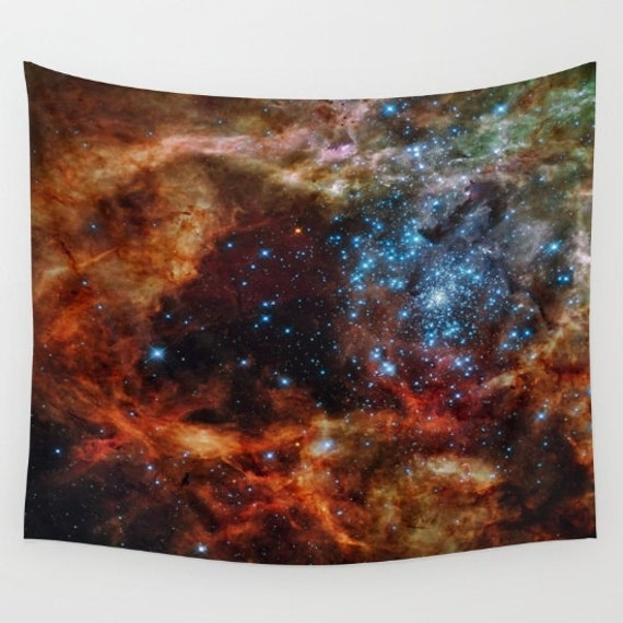 Star Clusters Wall Art Tapestry, Space Tapestry, Stars, Planets, Space Wall Art, Stars Tapestry, Nature, Nebula, Sparkle Tapestry, Dorm