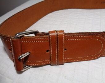 Joan and David  Saddle Hide Corset Belt Ladies size  L Vintage 90 s pristine condition