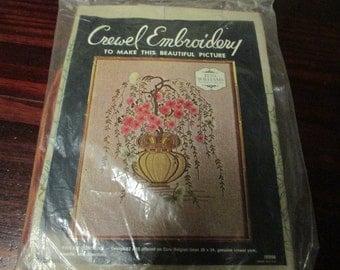 Elsa Williams Crewel Embroidery Kit Cherry Tree Bonsai 00096 Vintage Kit
