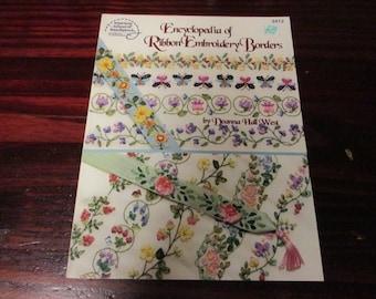 Encyclopedia of Ribbon Embroidery Borders American School of Needlework 3412 Deanna West Silk Ribbon Leaflet