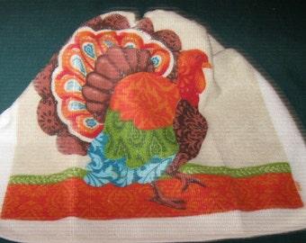 One Kitchen Crochet hanging towel Turkey, Tan top