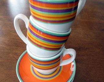 Vintage Espresso Cups Portugal Vista Alegre - Three
