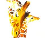 Giraffe With Baby #8 Art ...