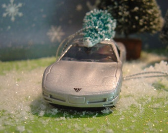 1997  Chevrolet Corvette toy car with Christmas tree ornament