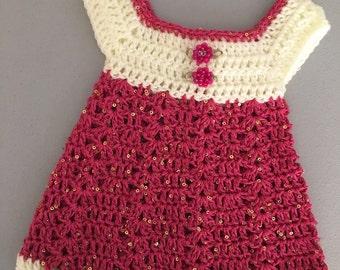 Newborn sundress.. New baby dress... Pink dress.. Ready to ship