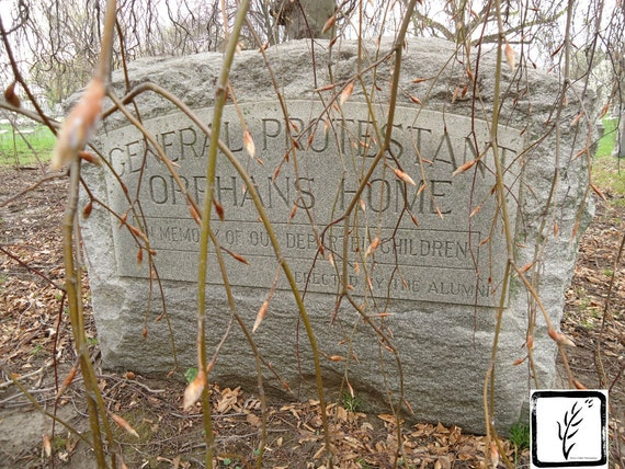 Color Photograph, cemetery, graveyard, wall art, photo print, fine art, home decor, creepy, headstone, haiku, Indianapolis, Indiana