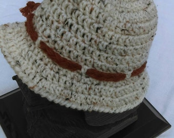 Toddler Boy's Crocheted Sun Hat Size 12-24 Months