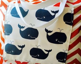 Diaper bag, whale diaper bag, diaper tote, monogrammed diaper bag, monogrammed tote, beach bag, beach tote, monogrammed tote, monogrammed