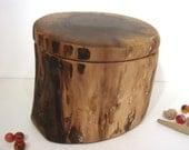 Black Walnut Tree Branch Wooden Box, keepsake box, groom gift, pet cremation urn, valet box, wedding gift, cremation urn, wooden jewelry box
