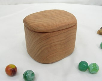 Butternut Wood Box, engagement ring box, proposal box, presentation box, earring box, eco gift box, guitar pick box, cuff link box