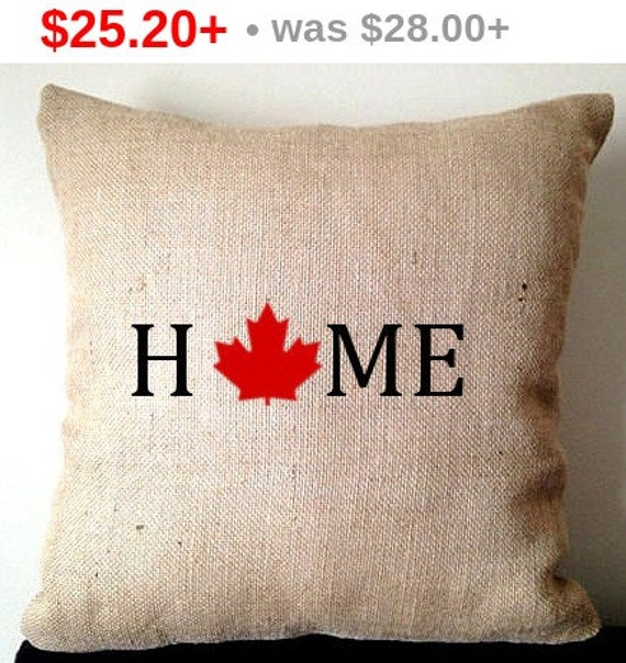 Sale Unique Gifts for her Home Decor Burlap Pillow by