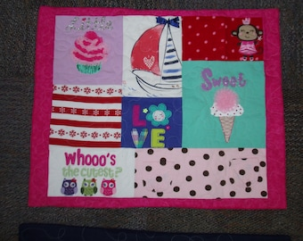 Pillowshams and pillowcases made from your Tshirts, Baby Clothes or other clothing