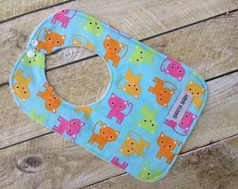 Baby Bib - Baby Girl Bib - Cats Bib - Baby Gift -Kitties Bib