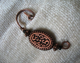 Celtic Shadows Copper Shawl Pin, Scarf Pin, Sweater Pin, Pin, Brooch, Closure for Your Knits and Weaves