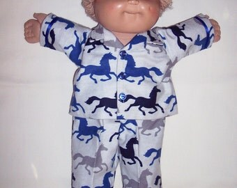 CABBAGE PATCH 16 inch Boys Horse Flannel Pajamas