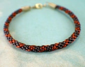 Dark and copper brown kumihimo braided bracelet gold 9 inch