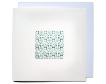 Letterpress Ornament Greetings Card - Green