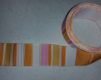 Pink and orange ribbon
