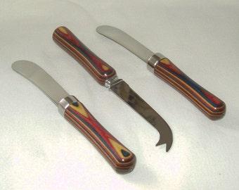 Party Cutlery, Set of 3, Dymondwood Handles (103)