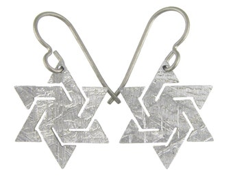 Meteorite Star Earrings