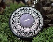 Protection Necklace Pendant 'Amddiffyn' Amulet Amethyst