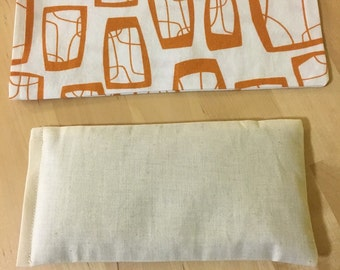 Organic Flaxseed and Lavender Eye Pillow with washable cover