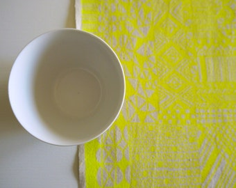 Tiled - screen printed fabric - neon colours