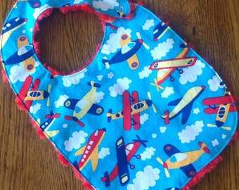 Airplane Minkie Baby/Toddler Bib