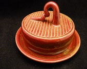 WheelWorksPottery - Butter Dish - Lidded - Camp Fire