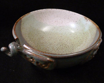 WheelWorksPottery - Yarn Bowl - Dual Function - Western Priarie