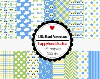 Digital Scrapbook  LittleRoadAdventures-INSTANT DOWNLOAD