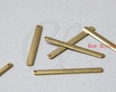 12pcs Raw Brass Flat Long Bar Charm Tag - 46x5mm (1761C-N-321)