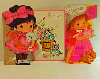 Vintage 1970's Birthday Cards for a Girl