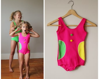 NOS, 1960s Confetti Dot Swimsuit >>> Girls Size 5t/6 or 10/12