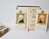 Flash Cards President Flash Card Set Teachers Cards Home School Tools Classroom decor 1962