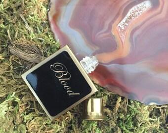 Blood ~ Vintage 1950's Purse Size Perfume Bottle Upcycled