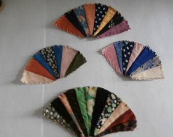 CRAZY QUILT FAN Embellishment Appliques for Quilts or Crafting