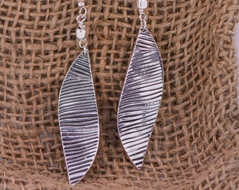 Zebra Dangle Earrings