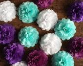 Mini Tissue Pom Poms, Mum Flowers, Table decoration, Wedding decoration, Party decoration