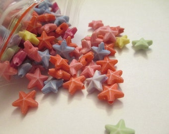 50 Star Beads Jewelry Making Supplies Jenuine Crafts