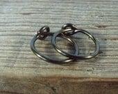 Earrings Gunmetal Plain - Gunmetal Hoop Earrings, Active Hoops, Huggie Hoops, Active Hoops, Bohemian Hoops, Small Hoop Earrings, Mens Hoops