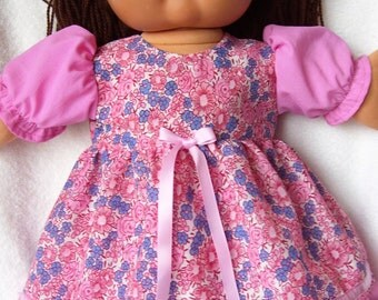 Cabbage Patch Doll Clothes,Pink Dress Set,fits 16inch to 18inch Baby Dolls