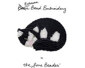 PDF file: Intro to Extreme (Basic) Bead Embroidery tutorial- Beaded Animal Cat Pin (For Personal Use Only) Free Ship